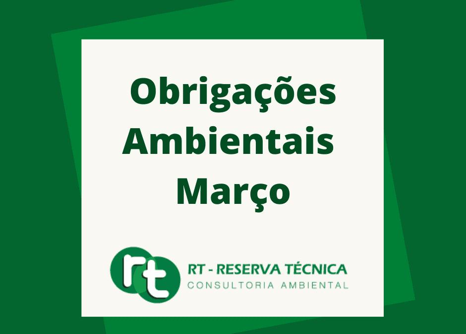 Obrigações Ambientais – MARÇO
