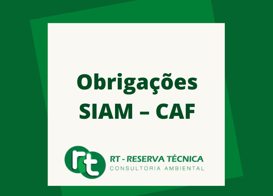 Obrigações SIAM – CAF