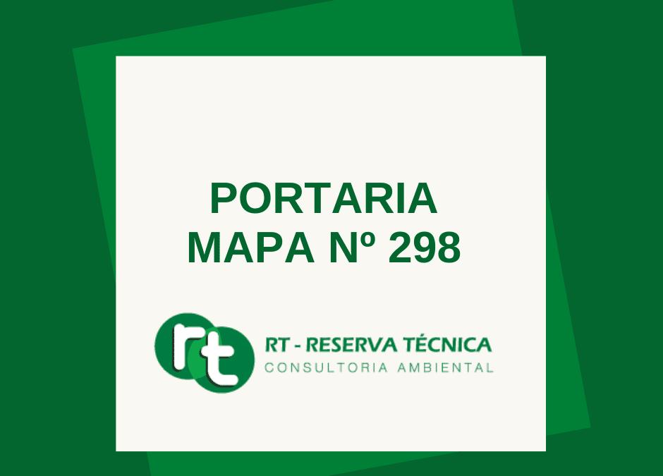 PORTARIA MAPA Nº 298